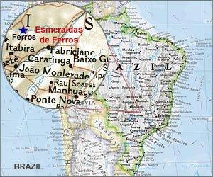Map of Esmeraldas de Ferros
