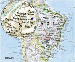 Map of Novo Cruzeiro