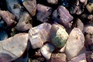 Indian uncut alexandrite