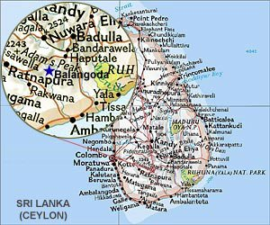 Map of Balangoda