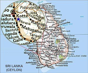 Map of Horana