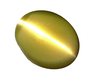 Sharp Chrysoberyl Cat's Eye Oval 2.52cts.