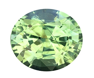Vanadium Green Chrysoberyl Oval 2.51cts.