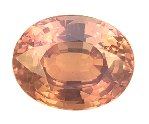 Certified Strong Change  Alexandrite Oval 3.52cts.