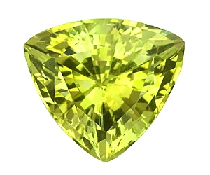 Fine Cut Chrysoberyl Trillion 2.84cts.